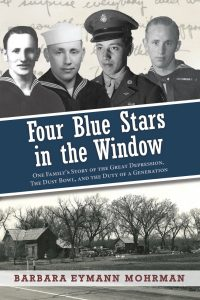 Four Blue Stars in the WIndow Cover
