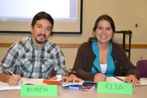 English conversation class students at Millard Branch.