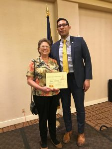 OPL volunteer Carol Armbrust and Nebraska State Senator Tony Vargas
